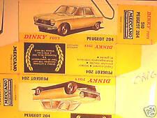 REFABRICATION BOITE PEUGEOT 204 DINKY TOYS spain 1970