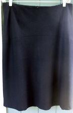 Talbot Black Stretch Wool ALine Flare Skirt Lined PLUS
