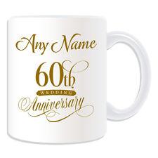 REGALO personalizzato sessantesimo anniversario TAZZA SALVADANAIO COPPA DI MATRIMONIO, onorevole collega giusto AMORE