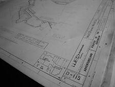 Disney World Pirates/Caribbean Ride Blueprint- Floor & Elev Plans- Auction Scene