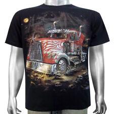 Custom American Big Rig Hot Wheels Semi-Truck Lorry Vehicle Mens T-shirt M & L