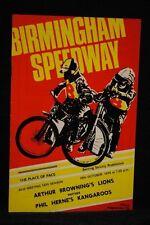 SPEEDWAY Arthur Brownings Lions v Phil Hernes Kangaroos - 28 Oct 1974