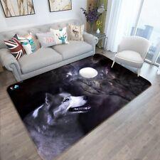 3D Les Loups Animaux 122 Étage Antidérapant Natte Élégant Tapis FR Tiffany
