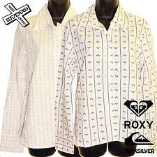 "QUIKSILVER ROXY ""head over heels's femme chemise à manches longues uk 10 12 bnwt £ 43"