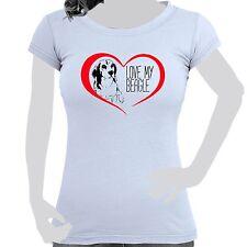 ONOREVOLI donna maglietta t-shirt cotone stampa Cane Love My Beagle