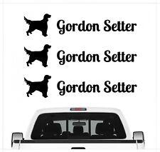 Gordon Setter Black Aufkleber 3er Set Hundeaufkleber Hundemotiv Hund Folie