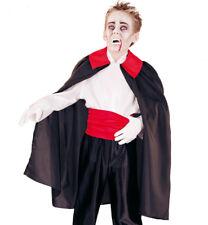 Vampir-Umhang für Kinder, Cape mit Kragen, schwarz-rot, Dracula 12217513F