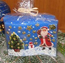 Kerze mit verschiedenen weihnachtlichen Motiven - Weihnachten - Weihnachtskerze