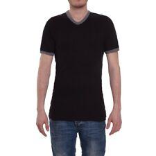 VALENTINO Body Herren UNDERWEAR COD. 7143V T-Shirt V-Neck Schwarz Feinripp