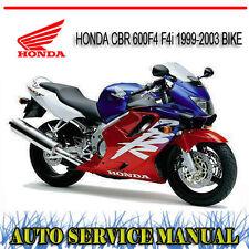 HONDA CBR 600F4 F4i 1999-2003 BIKE REPAIR SERVICE MANUAL ~ DVD