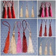 Large Tassels Dark Red, Beige, Deep Pink, Burgundy, Pale Tan 130x6mm NEW 3PC 5PC