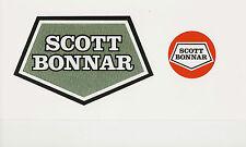 Scott Bonnar Model 45  Vintage Mower Hammered Green Decal