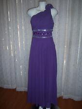 2016 Women's Purple Prom Dress Gown Elegant Ball Evening Dress Size 14 NEW