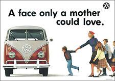 VW Camper Van Type II Classic Van 'Mother Could Love' Picture Poster Print A1