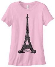 Threadrock Women's Eiffel Tower Paris France T-shirt French Pride