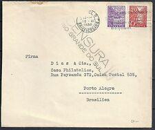 Switzerland 1936 cens cover CENSURA Rio Grande Do Sul