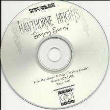 HAWTHORNE HEIGHTS Saying Sorry RARE TST PRESS RADIO PROMO DJ CD single 2006