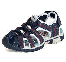 """Sleedy® Kinder Sandale /""""Nik/"""" vorn geschlossen Unisex Sandalen in versch Größen"""