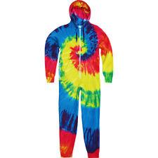 Mens Colortone Cotton Rich Tie Dye Cotton Rich Spider All in One Suit Onsie