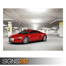 AUDI e tron parking garaje (AB657) cartel de auto-arte cartel impresión A0 A1 A2 A3