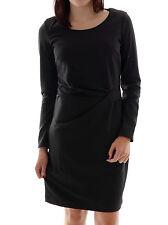 Lavand Damenkleid Kleid schwarz Rundhals Reißverschluss festlich