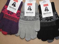 Touchscreen Handschuhe im Norwegermuster Kinder Damen one size