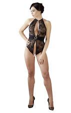 Sexy Body di fine lingerie in pizzo Nero con apertura al cavallo by Abierta Fina