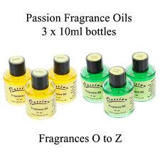 3 Bottles of Passion Fragrance Oils (10ml) - Fragrances O to Z