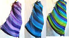 Hand-painted stripes beach SARONG/PAREO SCARF SWIM-WEAR SUMMER COVER-UP batik
