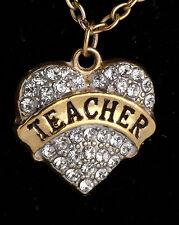 Family-Gifts-Crystal-Love-Heart-Pendant-Rhinestone jewellery for Teacher
