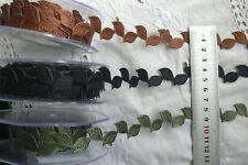 20mm Self Adhesive Satin Leaf Garland 1&2 Metre 3 Colours Choice GreenTara CR11