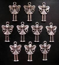 Fairy Girl - Tibetan Silver Charms / Pendants - 21mm x 15mm