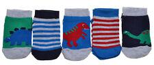 5 pairs of Dinosaurs Boys Trainer socks