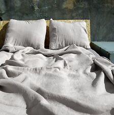 Washed Linen Duvet Cover, Crinkled Soft Pure Linen Comforter Cover - Natural