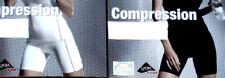 Damen Kompressions Shorts Fitness Hose kurz weiß/schwarz Gr.S M L NEU