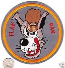 LARGE FLAK PAK Cartoon Big Bad Wolf Squadron Patch US Navy Air Force Air Defense