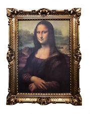 MONA LISA CUADRO CON MARCO Mural Leonardo Da Vinci 70x90cm Retro Repro Antiguo