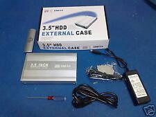 """BOX ESTERNO HARD DISK CASE HDD 3,5"""" ALLUMINIO USB 2.0"""