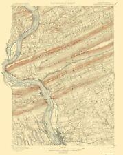 Topographical Map Print - Harrisburg Pennsylvania Quad - USGS 1899 - 17 x 21.38