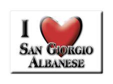 CALAMITA CALABRIA FRIDGE MAGNETE SOUVENIR I LOVE SAN GIORGIO ALBANESE (CS)