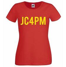 Ladies' Red JC4PM Jeremy Corbyn Labour Political Party Leader T-Shirt Politics