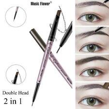Music Flower Brand Makeup Fine Sketch Double Head Liquid Eyebrow Pen  4 Colors
