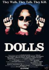 Dolls Stuart Gordon cult horror movie poster print