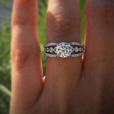 Luxury Bling Women Crystal Rhinestone Rings Engagement Wedding Jewelry FG