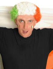 Irlandés Afro Bandera Peluca Paddys Día Irlanda Novedad Pelo Verde Naranja