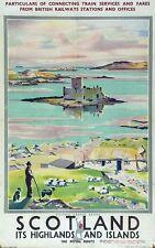 Poster Vintage LNER Barra Escocia Ferrocarril A3 impresión