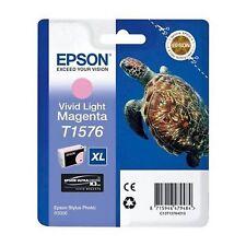 CARTOUCHE EPSON T1576 MAGENTA CLAIR light photo tortue pour stylus photo