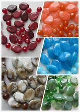 20 perles marbre effected acrylique & 20 verre choix de 12 couleurs 24mm 12mm