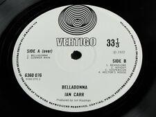 """IAN CARR """"BELLADONNA"""" UK 1st 1972 Vertigo Swirl 6360 076 Britpop  LP. EX/VG+!!!"""