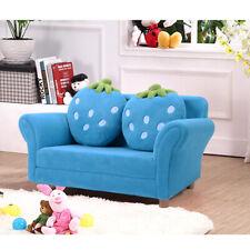 Canapé sofa enfant 2 oreillers meubles chambre d'enfant jeu confort repos rose
